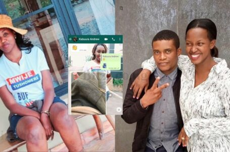Andrew kabuura : whatsup screen shots  released by former Twinomujuni the former side chick