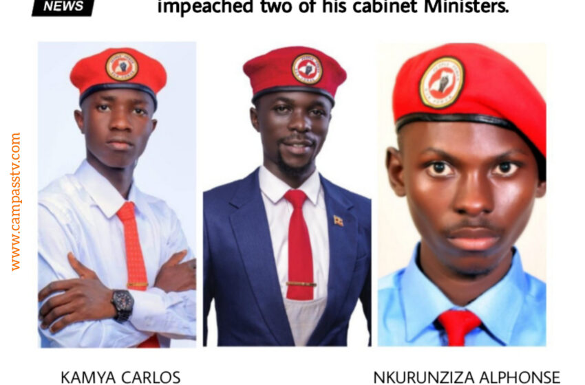 """Breaking News : kyambogo university Guild president  impeached two of his close """"cabinet mininsters"""""""